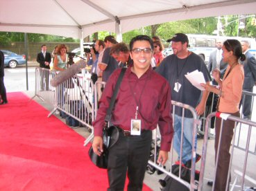 John on the red carpet
