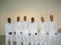 Cater waiters THX-1138 shaved heads