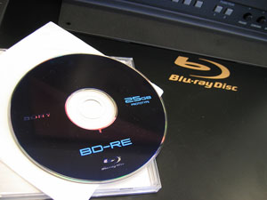 Bl-ray Player with BD-RE Disc