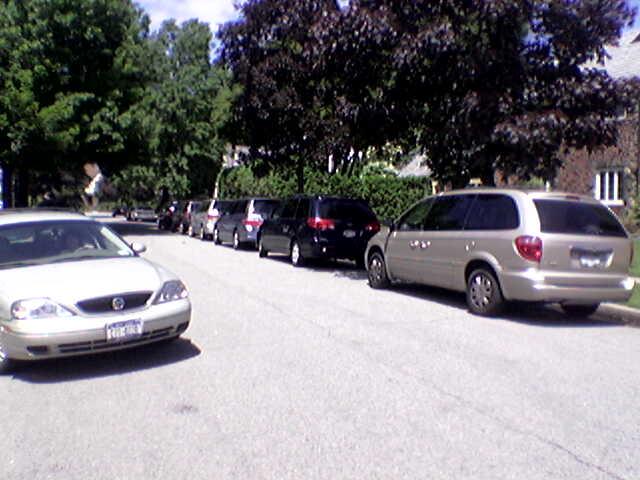 Many Minivans in Rockville Centre