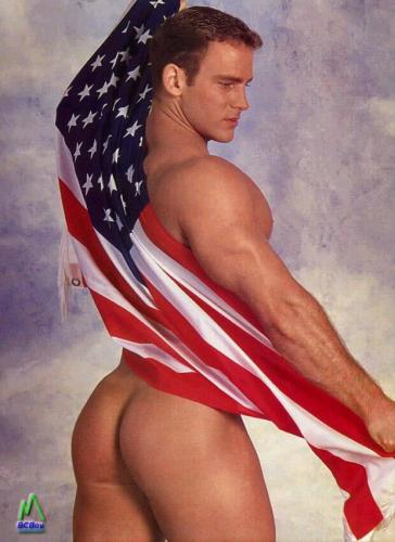 American Flag with Firm Ass