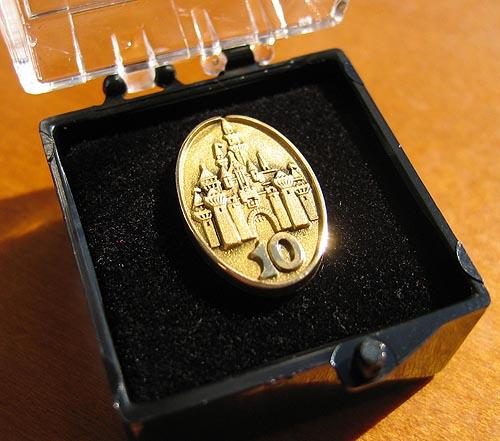 Disney 10-Year Pin