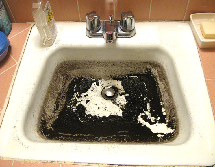 Bathroom Sink Sludge