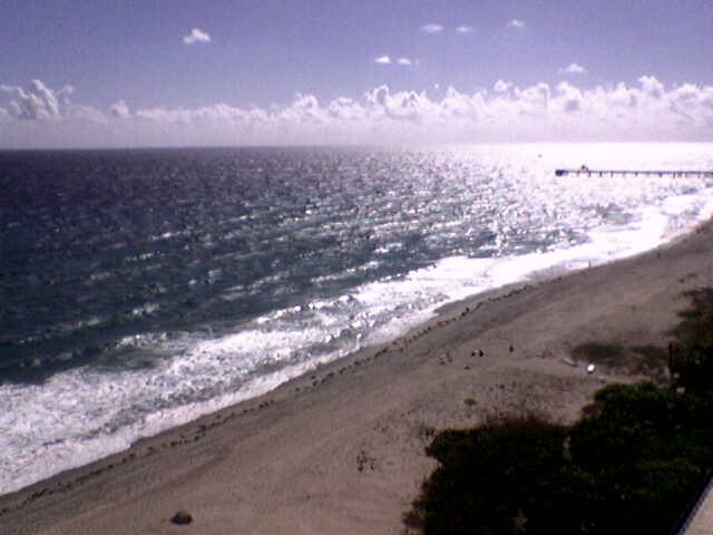 High over the coastline