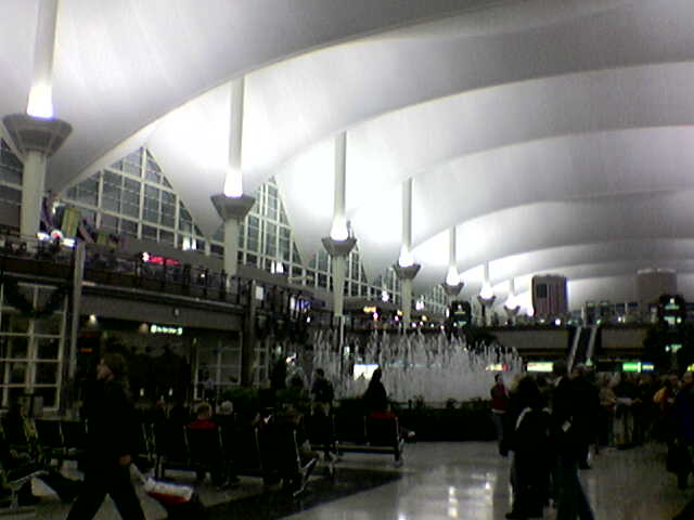 The main lobby of Denver International Airport