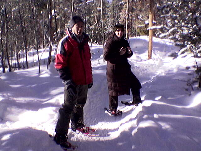 Scotty and Teresa snowshoeing