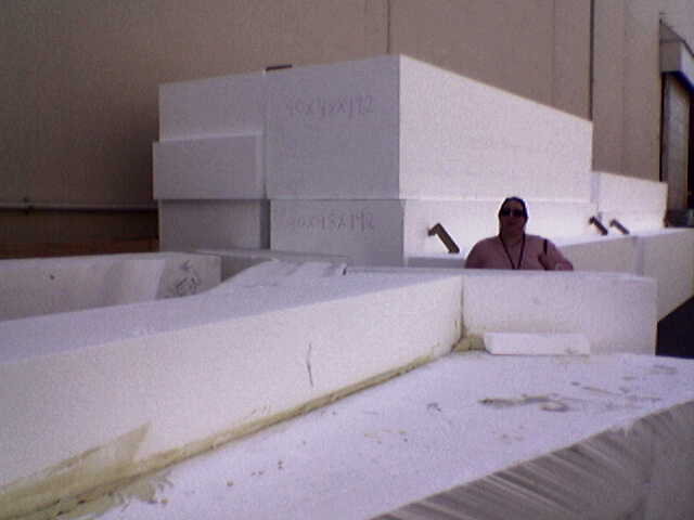 Giant blocks of foam at Walt Disney Studios